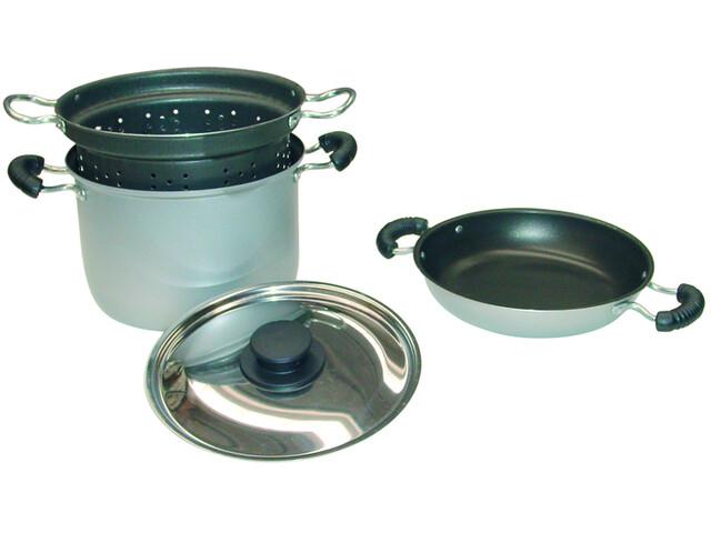Brunner Set de cocina - aluminio, con tapa de acero fino, 4 partes